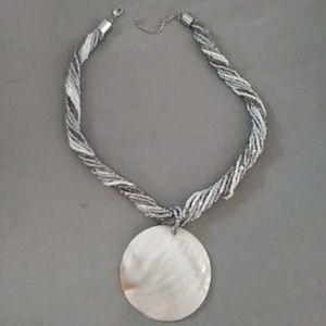 Handmade bead &shell necklace. Beautiful piece.